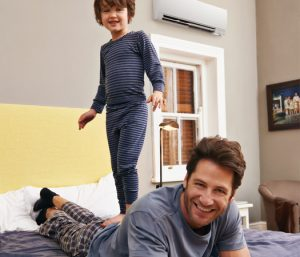 Father and Son with Mitsubishi Ductless