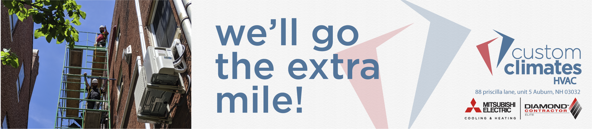 Go the extra mile banner